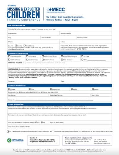 Print registration form